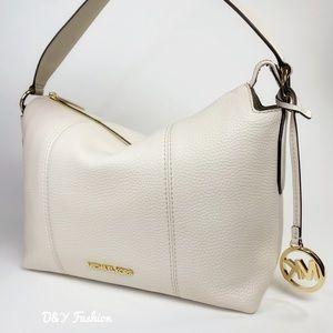 Michael Kors  Brooke Pebbled Leather Shoulder Bag
